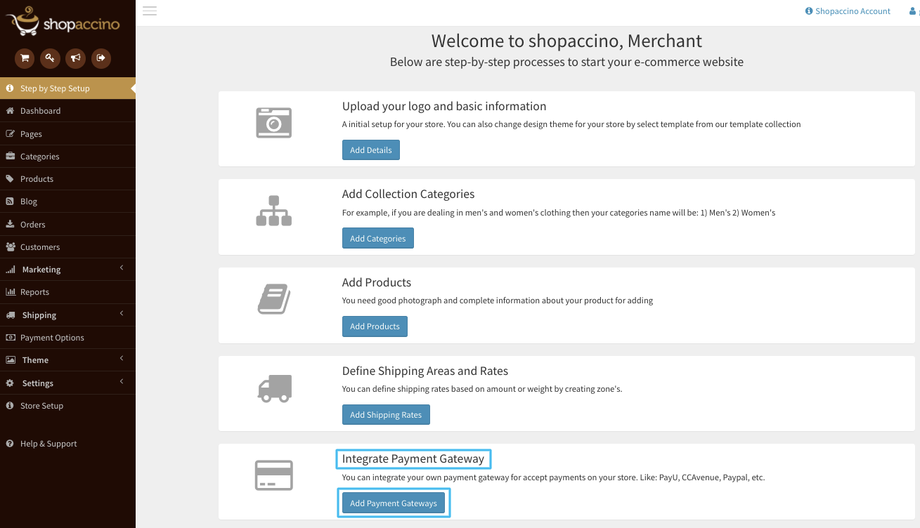 ntegrate payment channel