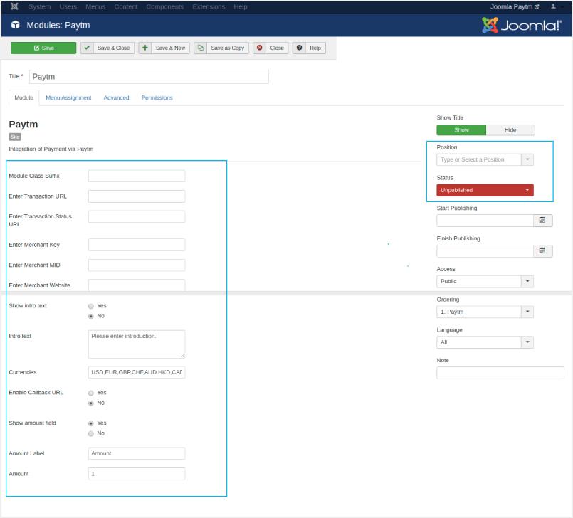 merchant account configuration