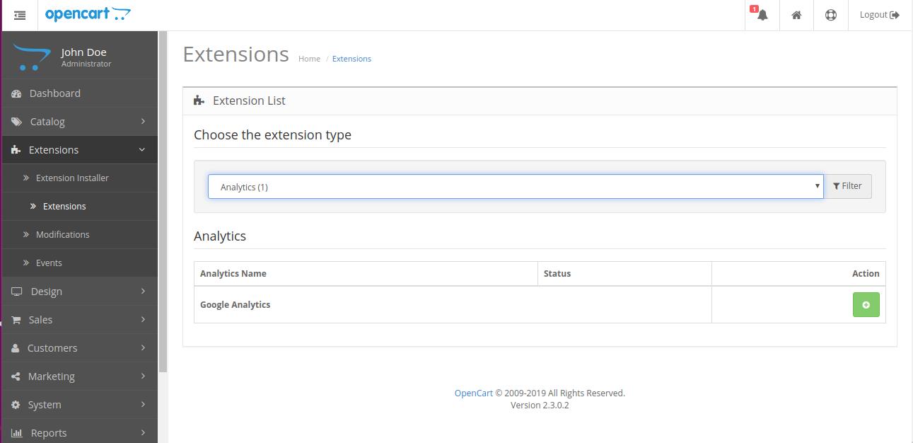 Opencart extention installer